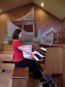 Jennifer Mitchell at the organ